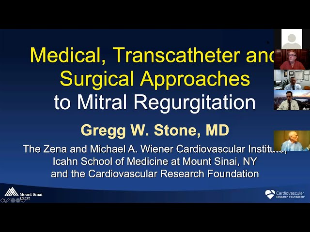 Medical, Transcatheter and Surgical Approaches to Mitral Regurgitation