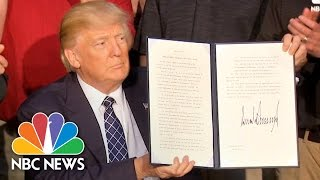 President Trump Signs Executive Order Rolling Back Obama-Era Climate Change Policy   NBC News