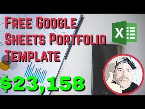 Free Downloadable Google Sheets Portfolio Tracking Template | Click FILE - Make A Copy