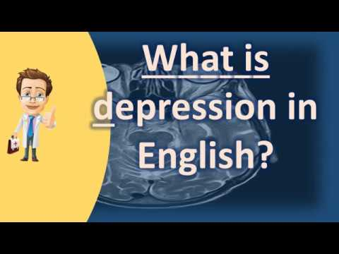What is depression in English ? |Health NEWS