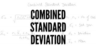 Combined Standard Deviation (Revision) - F.Y.B.Com Maths