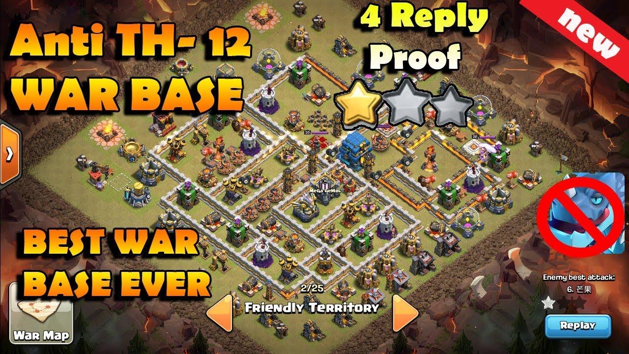 Best Th12 War Bases 9