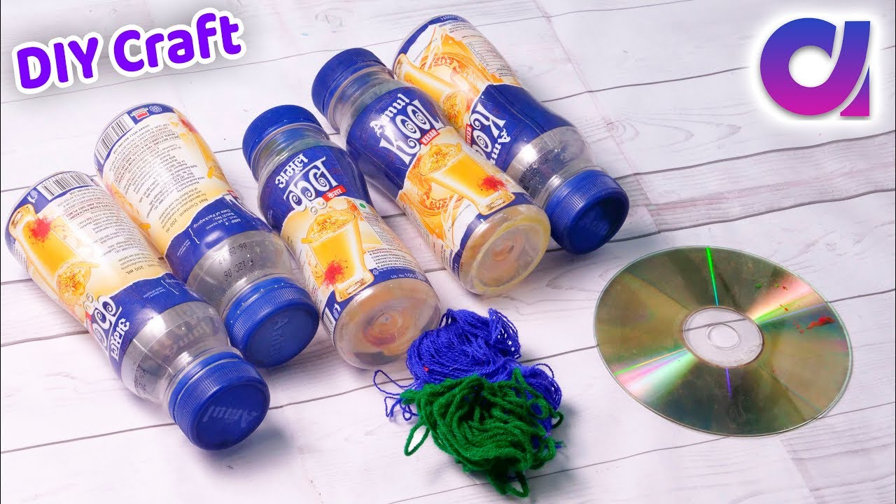 Best plastic bottle and cd home decor