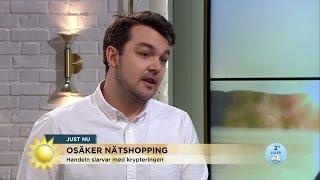 Så handlar du säkert på nätet - Nyhetsmorgon (TV4)