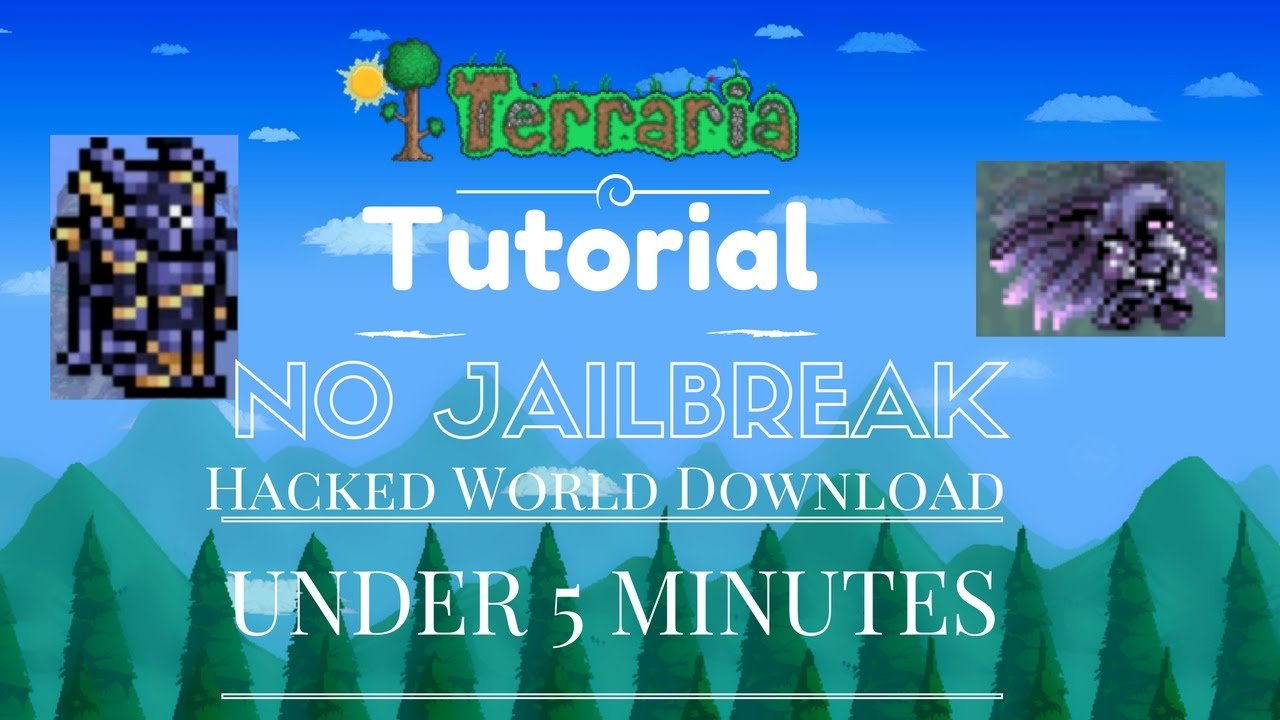 HOW TO DOWNLOAD HACKED WORLDS FOR TERRARIA IOS/ANDROID NO JAILBREAK!! Under  5 Minutes!! *WORKING*