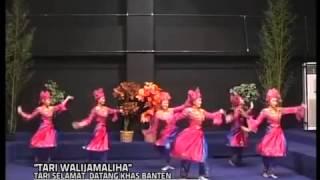 TARI SELAMAT DATANG KHAS BANTEN TARI WALIJAMALIHA   YouTube