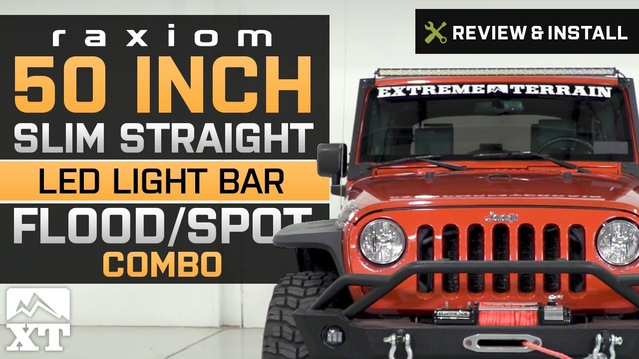 Jeep Wrangler Raxiom 50 Slim Straight LED Light Bar 19872017 YJ