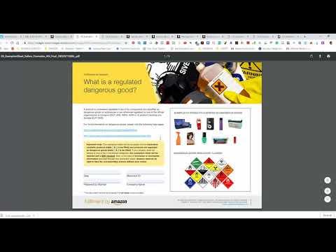 Upload Hazmat SDS Amazon