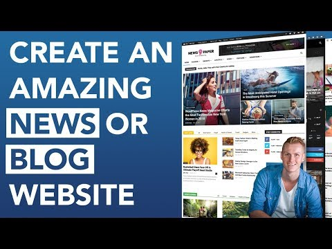 How To Create A Blog Or News Website | Newspaper Theme