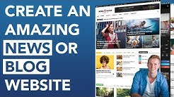 How To Create A Blog or News Website 2019 | Newspaper Theme