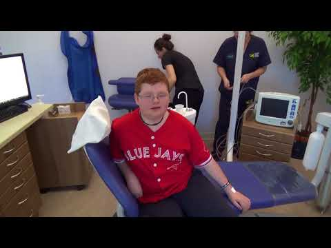 Dylan at the dentist for surgery..... Funny .......  Must see