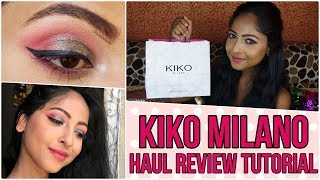 KIKO MILANO HAUL- REVIEW- TUTORIAL | SMART RANGE- Eyeshadows, Foundation, Lipstick | Stacey Castanha
