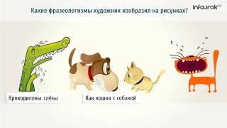 Видеоурок русскому языку 'Фразеологизмы'