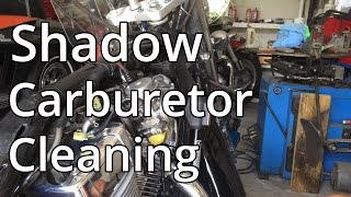 How To: Clean Honda 750  Aero Carburetor  Part 1