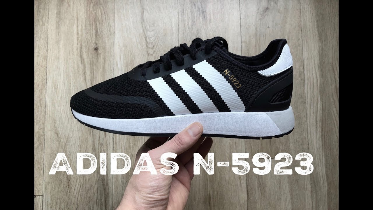 Factura construcción naval Coche  Adidas N-5923 'Core Black/ Ftwr Wht/ Grey One' | UNBOXING & ON FEET |  fashion shoes | 17 | HD - YouTube