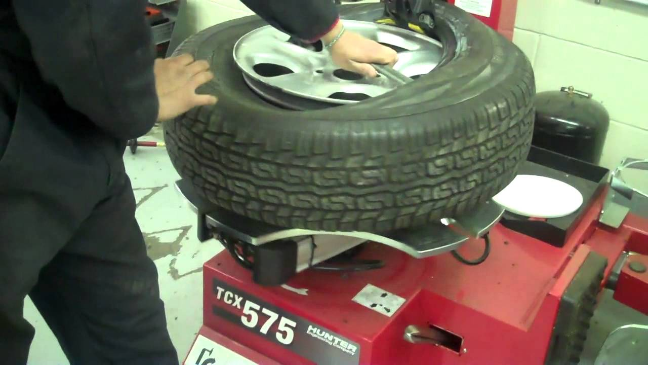 How To Dismount Mount Balance A Tire Mp4 Youtube