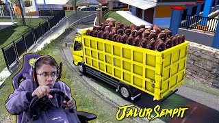 Download lagu Canter Dump Muat Sawit di Jalur Sempit
