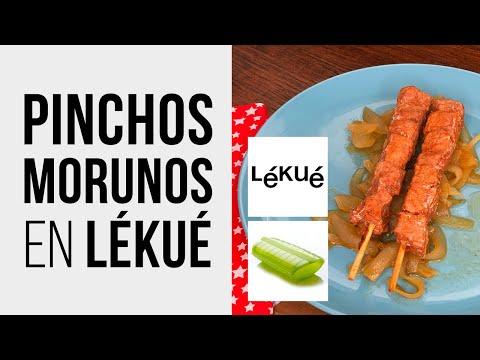 Pinchos Morunos cocinados en Lékué Estuche de Vapor al Microondas