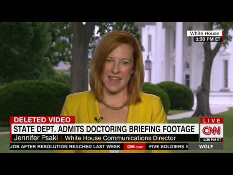 Jen Psaki Pressed By CNN's Wolf Blitzer On State Department's Video Editing