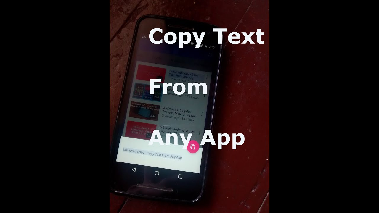 Universal Copy - Copy Text From Any App