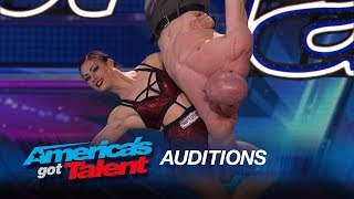 Duo Volta: Former Couple Show Off Stunning Trapeze Act - America's Got Talent 2015