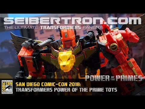 Transformers Power of the Primes products shown at SDCC 2018