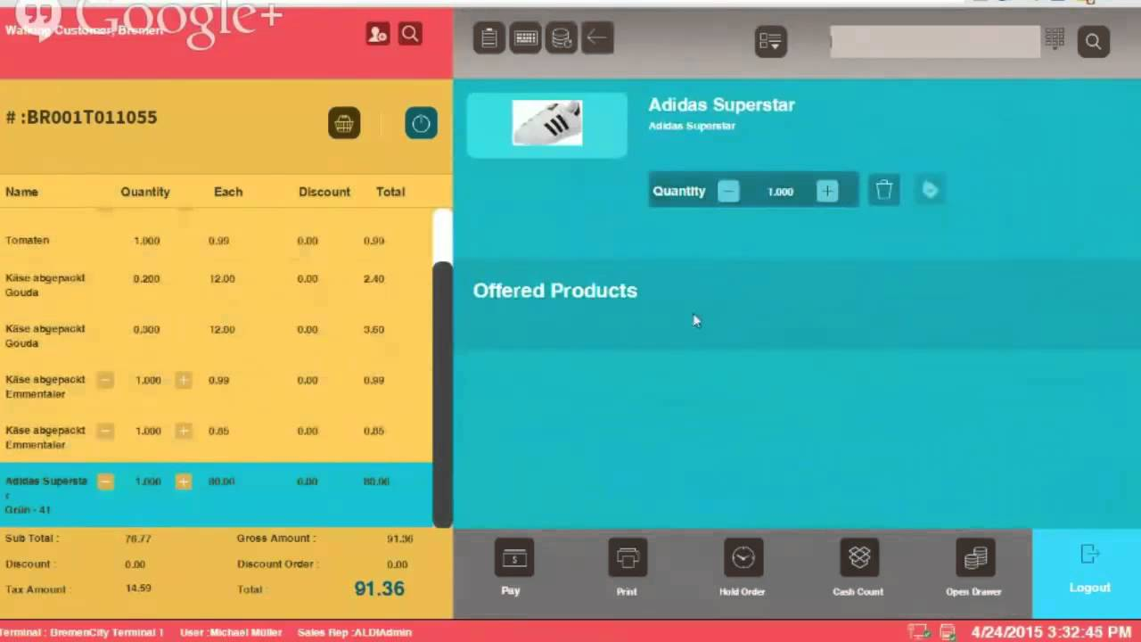 Retail Pos System On Html5 Hangout By Vienna Advantage Point Of You