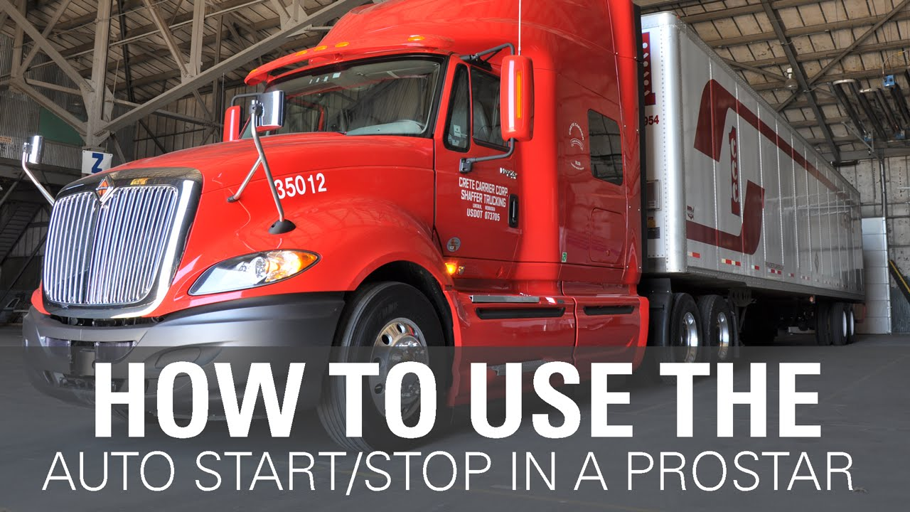 How to set up the Auto Start/Stop in an International ProStar