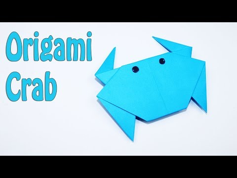 How to Make a Paper Crab - Origami Crab Tutorial for begginers
