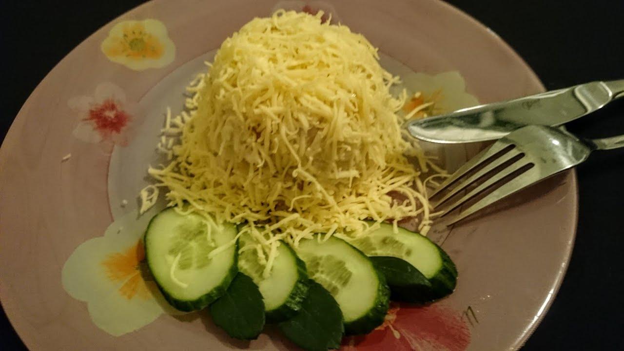 простой рецепт салата из курицы с ананасами