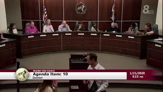 City of Boulder City Council Meeting 1-21-20