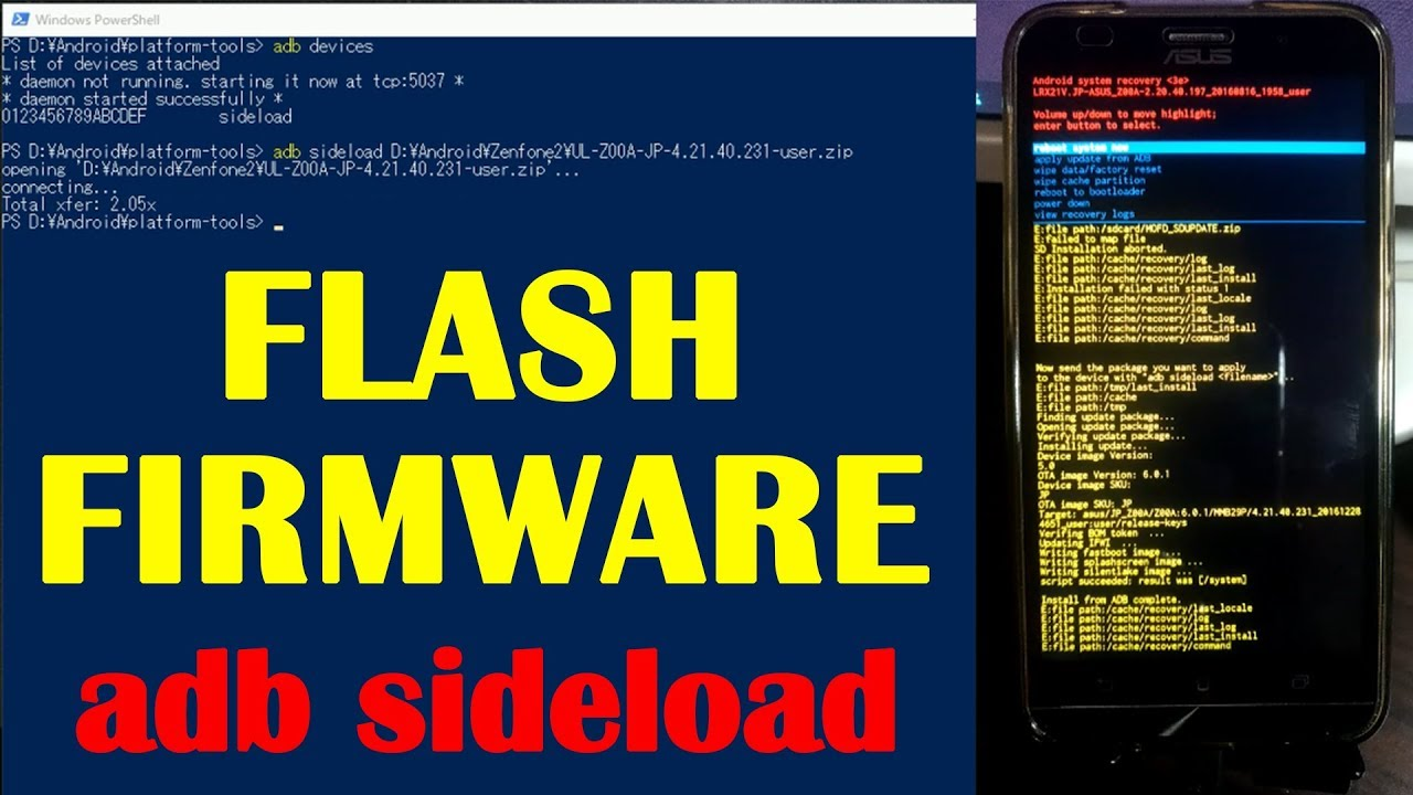 FLASH FIRMWARE [ adb sideload ]