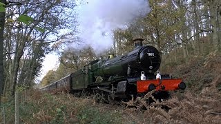 7802 BRADLEY MANOR ON TEST ON THE SEVERN VALLEY RAILWAY