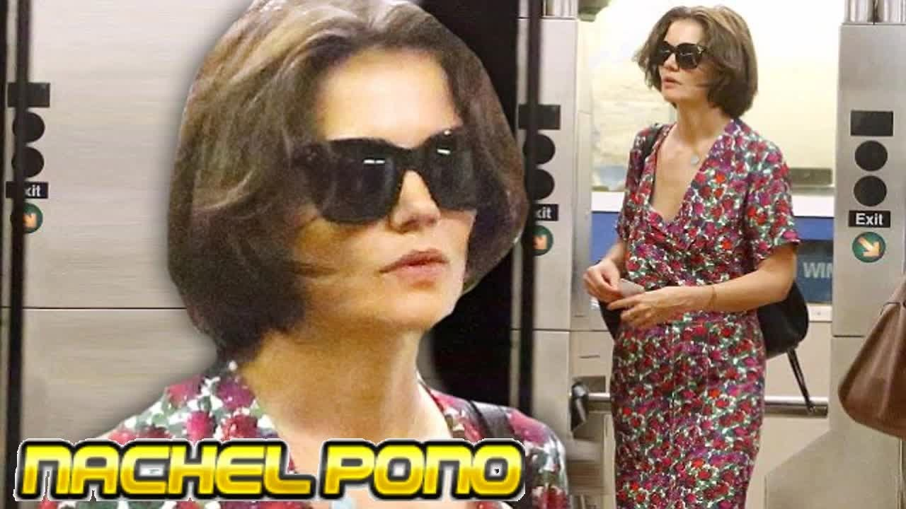 Katie Holmes is pictured looking exhausted
