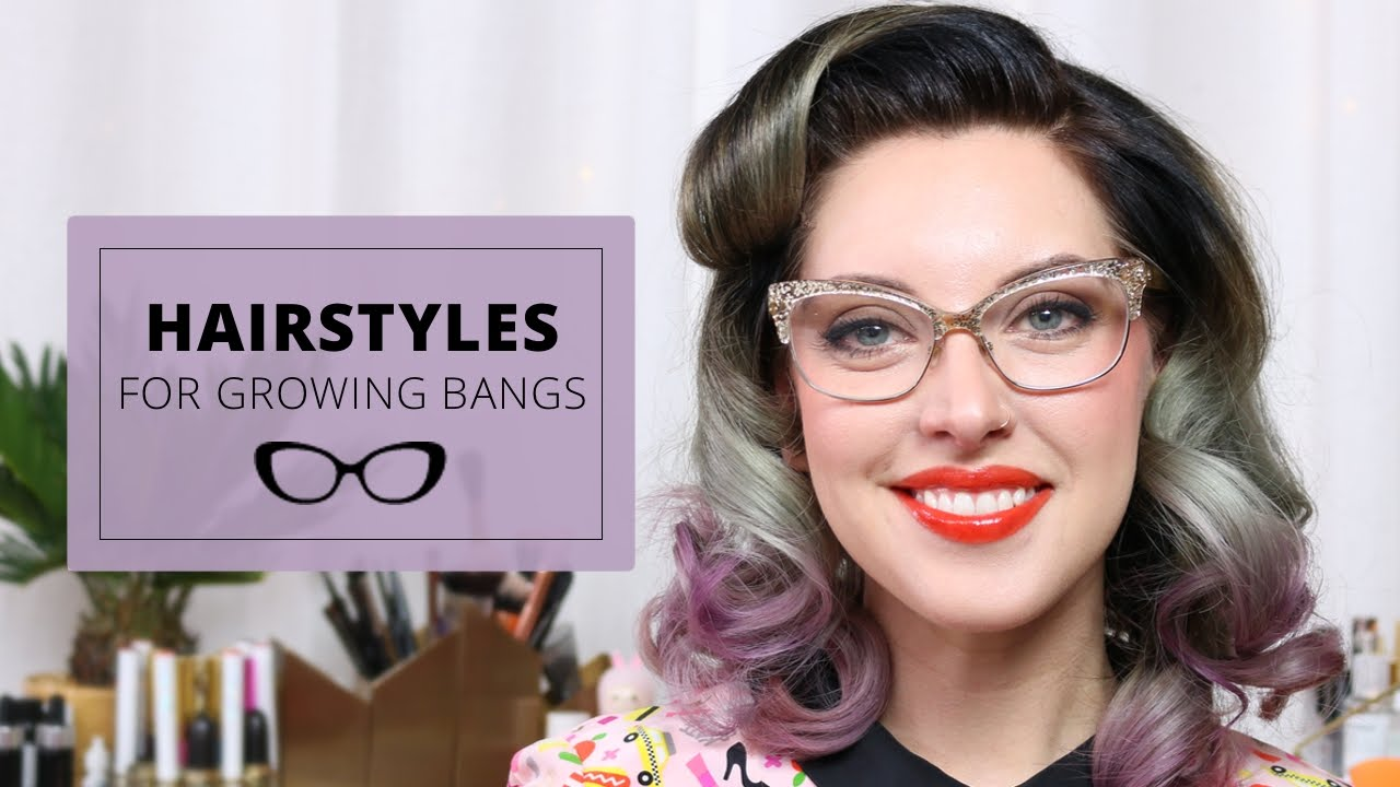 3 Easy Hairstyles For Growing Out Bangs Growing Out Bangs Growing Your Hair Out Vintage Hairstyles