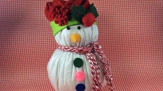 Peso de Porta – Fuxico – Boneco de Neve – Enfeite de Natal