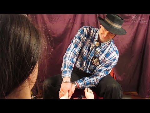 ASMR My Cowboy Does my Pedicure | Foot Massage and Nail Care