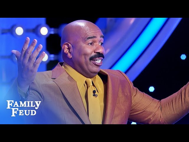 Here's why Steve Harvey's a great kisser. | Family Feud