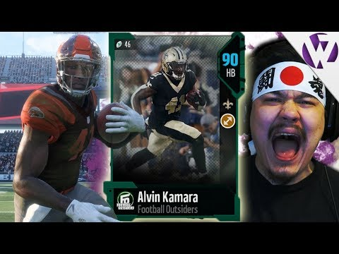 TRYING OUT FOOTBALL OUTSIDERS ALVIN KAMARA! - Madden 18 Football Outsiders Alvin Kamara Gameplay
