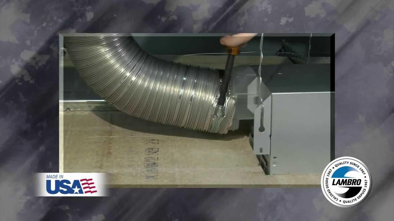 Aluminum SemiRigid Duct Installation  Lambro Industries