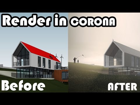 Learn revit in 5 minutes exterior render via corona - Revit exterior rendering settings ...