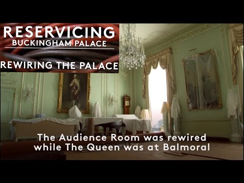 NEW Buckingham Palace Update Video - Queen's Audience Room Rewired While She Was At Balmoral