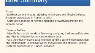 The Missiles and Missile Defense Systems Market in France to 2023   Market Brief- Reports Corner