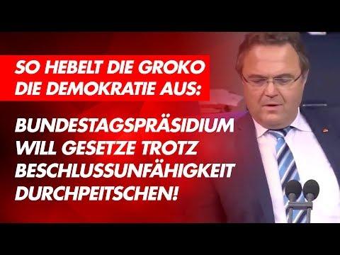 Groko will Gesetze durch leeren Bundestag peitschen! - AfD-Fraktion im Bundestag