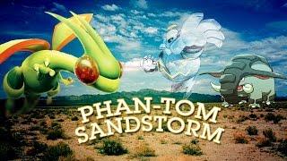 """Phan-tom Sandstorm"" Flygon Donphan Dusknoir Standard Deck PTCGO"