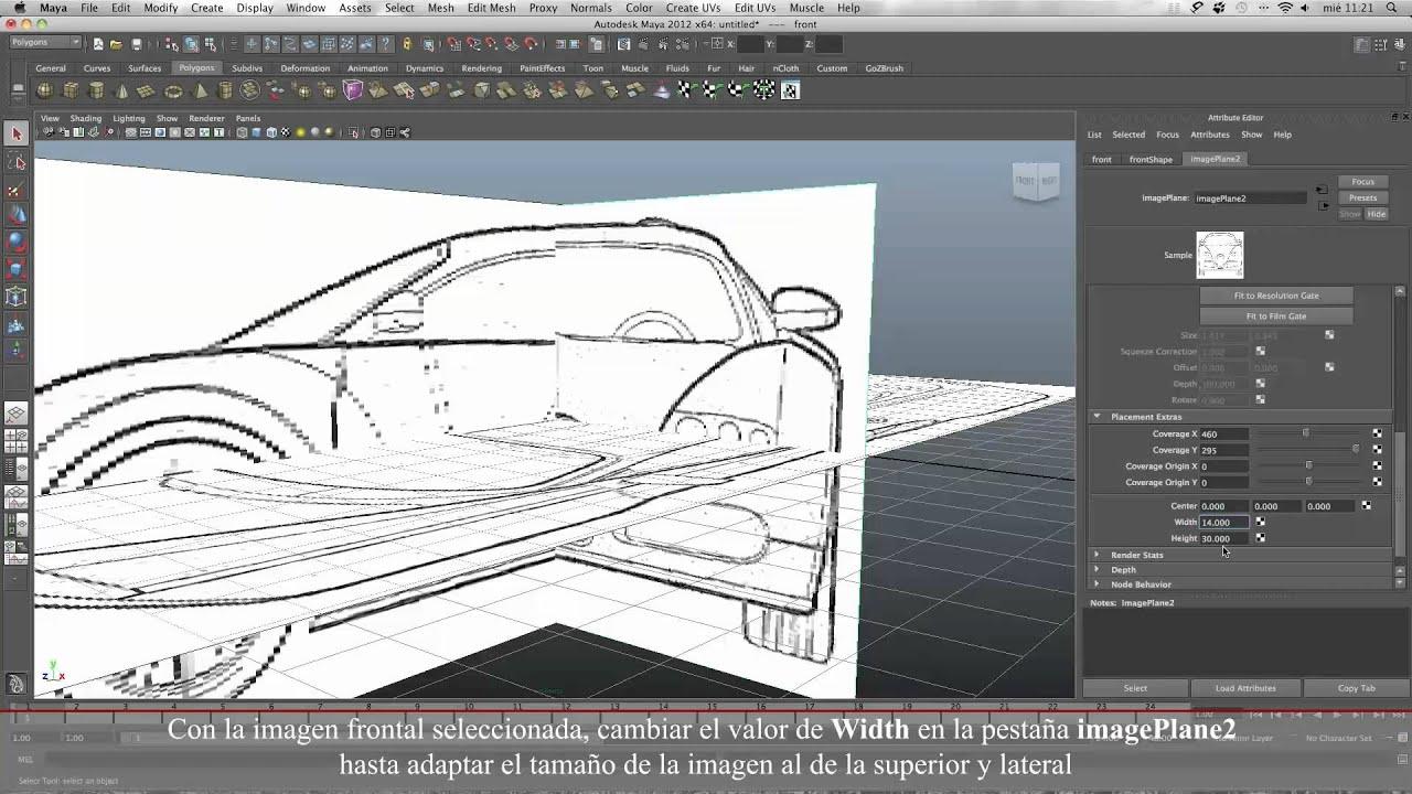 Importar blueprints maya 2012 youtube importar blueprints maya 2012 malvernweather Image collections
