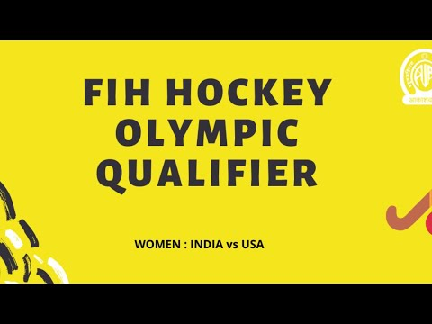 FIH Women Hockey Olympic Qualifier | INDIA Vs USA