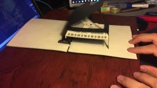 Thiệp 3D Đàn Piano
