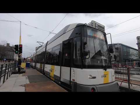 Trams in Antwerp / het Antwerpse tramnet, Belgium - 1 March, 2020