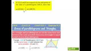 ncert solutions for class 9th maths chapter 9 areas of parallelogram ex9 2 q2